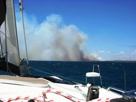 Fire at Morambe Bay