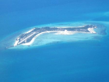 Arial picture of Paradise Island