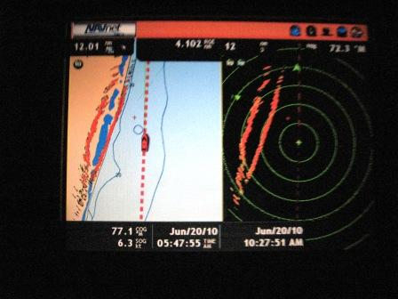 The Navnet navigation screen